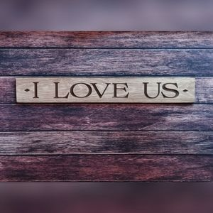 💕 I Love Us 💕 Wood Sign, Wall, Picture Carved